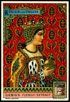 An poster sized print, approx mm) (other products available) - THE QUEEN OF HUNGARY (presumably Elizabeth) 1 in series of 6 - Image supplied by Mary Evans Prints Online - poster sized print mm) made in the UK Vintage Labels, Vintage Ephemera, Vintage Cards, Vintage Images, Vintage Posters, Vintage Artwork, Tarot, Vintage Magazine, Fine Art Prints