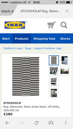 IKEA (not quite as nice as Chevron print) but cool
