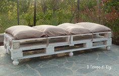 Riciclo Bancali: il divano da giardino di Elisa