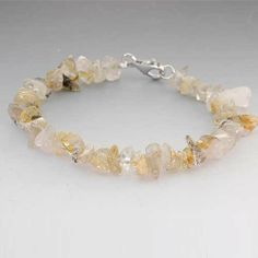 Rutile Chips Sterling Silver Bracelet 7.5 Inches FlameReflection. $14.99. Save 63%!