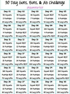 30 day guns, buns, and abs challenge. A friend has challenged me to do this. Anyone with me?