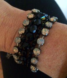 Wrap bracelet with Winter Fun beaded necklace and 2 Print Ideas London bracelets #limitless #sabikalove