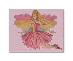 Barbie inspired, Girls room Decor, Kids Art Decor, Baby Girl Nursery, Kids Girls Wall Art, Children Decor, Art for girls room