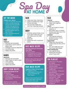Craving a spa day but that's just not in the cards? Why not have a spa-at-home day? Check out our free DIY Spa Day printable planner! Diy Spa Day, Spa Day At Home, Body Spa At Home, Spa Tag, Haut Routine, Vie Motivation, Spa Night, Self Care Activities, Self Care Routine