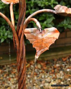 The Copper Sculptor – Specializing in Copper Tree Water Features - Modern Contemporary Water Feature, Diy Water Feature, Backyard Water Feature, Small Water Features, Outdoor Water Features, Water Features In The Garden, Garden Sink, Water Garden, Garden Art