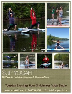 Honolulu, HI SUP Yoga Fit with SUPnorth and Holness Yoga Studio.  Stand Up Paddle Boarding & Yoga in Cottage Country's beautiful Haliburton Highlands.  www.supnorth.ca Click flyer for more >>