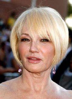 Ellen Barkin blonde bob