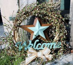Primitive Wicker Wreath 13 by MagicalHandmades on Etsy