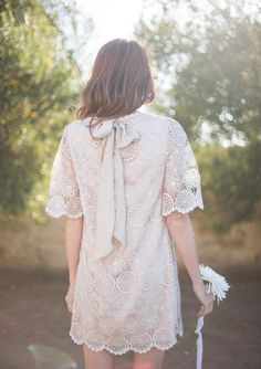 style | bridal style inspiration shoot | agata swing dress from BHLDN | via: could i have that