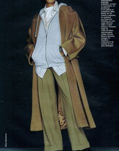 cl-rose: Yasmeen Ghauri photographed by Gilles Bensimon for Elle France, 1993 How To Have Style, Style Me, Mode Outfits, Fashion Outfits, Womens Fashion, Elegante Y Chic, Pantalon Large, Inspiration Mode, Looks Cool