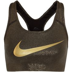 Nike Pro Classic metallic stretch-jersey sports bra ($51) ❤ liked on Polyvore featuring activewear, sports bras, bra, strappy sports bra, nike sportswear, nike, nike activewear and racerback sports bra