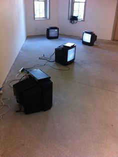 Outside.inside. (2014) -Mereana Matia  Exhibition installation 4 tvs 4 moving images Multiple texts South auckland Perception