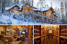 Log cabins in the snow= gorgeous