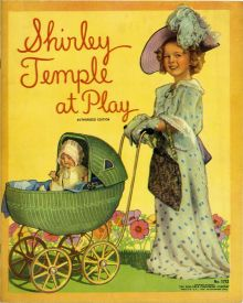 One of hundreds of books, filled with photos, of child star Shirley Temple.
