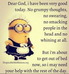15 Minion Crazy Quotes-Funny Hilarious humor Pictures For minions lovers we got some great news… Here are 15 Very funny Minion Quotes and Funny images ! We hope you will love them. Funny Minion Memes, Minions Quotes, Funny Jokes, Minion Sayings, Minion Love Quotes, Minion Humor, Funny Shit, Funny Stuff, Funny Work