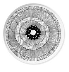Mushroom inspired plate design    Marimekko Siirtolapuutarha Plate by: Marimekko - Huset-Shop.com | Your