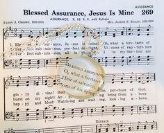 Blessed Assurance necklace Inspirational Hymn by GospelHymns