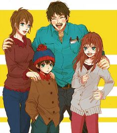 The Marsh family. From South Park.