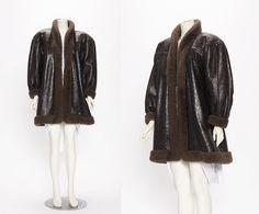 yves saint laurent haute couture shearling coat vintage 1970-80s • Revival Vintage Boutique by RevivalVintageBoutiq on Etsy