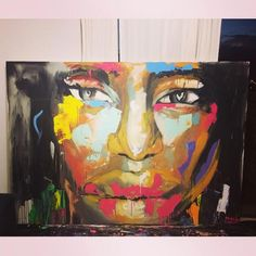 Expressionism painting by @Angela Correa  Acrilic on canvas  #Art #paint #Expressionism #protrait
