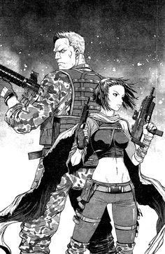 Ghost in the Shell, Batou and Major are looking so damn awesome here :)