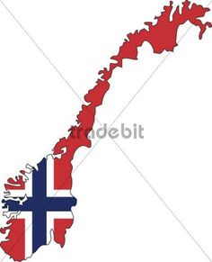 This is a great way to incorporate a Norwegian flag as a tattoo.