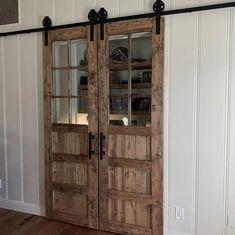 3 Panel Door, Glass Panel Door, Doors With Glass Panels, Vintage Doors, Antique Doors, Vintage Windows, Interior Sliding Barn Doors, Rustic Interior Doors, 3 Panel Interior Doors