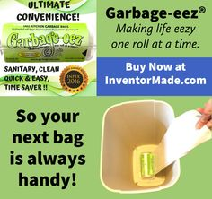 """This innovative product provides 25 trash bags on a roll. What's so unique about that? Well, this roll attaches with Velcro® to the bottom of your trash can, so the next bag automatically extends upward as you remove the full bag. With the Garbage-eez® you next bag is always handy when you empty the full bag! This easy-to-use product makes """"trash time"""" quicker, more convenient, and much more sanitary than that tired, old-fashioned method of bag replacement."""