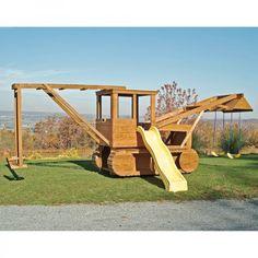 Amish Made 23x12 ft Bulldozer and Backhoe Playground SetAmish Swing Sets & Jungle Gyms | Pinecraft.com • Kid's Play Sets, Play Systems & Playground Equipment