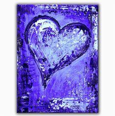 BURGSTALLER Herz Bild handgemalt Gemälde Geschenk Herzbilder Liebe Partner 142