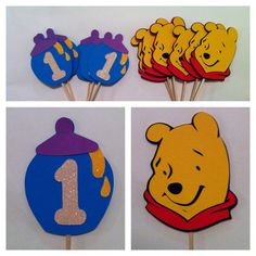 Winnie the Pooh Party Combo (Banner & Cupcake toppers). $40.00, via Etsy.
