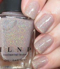 ILNP Manor House is a beige taupe jelly with holo flecks. nail polish The Poli New Nail Art Design, Simple Nail Art Designs, Love Nails, How To Do Nails, Jelly Nails, Pretty Nail Art, Nail Polish Collection, Types Of Nails, Fabulous Nails