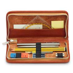 "Sonnenleder ""Nietzsche"" Pen and Pencil Leather Case, Natural at Fendrihan.com"