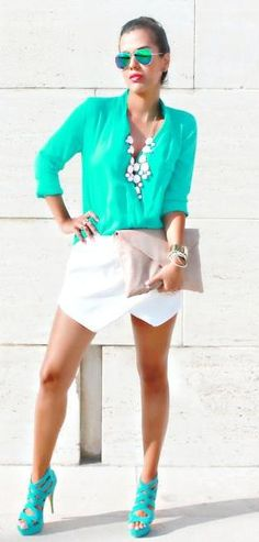 Turquoise....check the shoes!!!!!