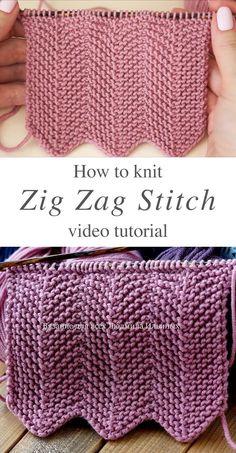 Rib Stitch Knitting, Knitting Stiches, Loom Knitting, Knitting Patterns Free, Free Knitting, Crochet Stitches, Baby Knitting, Sewing Patterns, Crochet Patterns