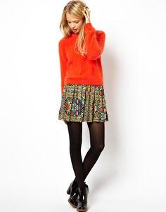 ASOS Skater Skirt in Floral Print