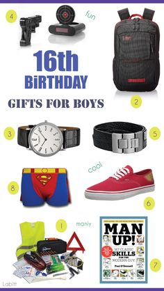 Best 16th birthday gift ideas for boys. Teen guys approved!