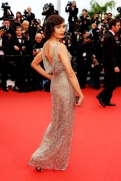 Freida Pinto wearing shimmering Sanchita Ajjampuri gown at Cannes 2013  Freida Pinto, Celebrity Red Carpet c4318f096f49