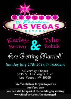 Las Vegas Wedding Invitation By Karleyism On Etsy