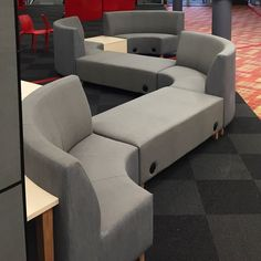 Valentina Modular - comfortable touch down point complete with power for the ultimate student experience - integrated tables create… Sofa, Couch, Tables, Student, Create, Projects, Furniture, Home Decor, Mesas