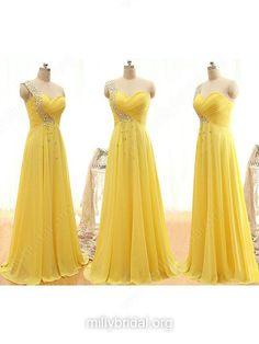 Yellow Bridesmaid Dresses  Long Bridesmaid Dress