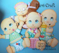 bebes en goma eva by Marie Craft #gomaeva #manualidadesgomaeva
