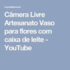 Câmera Livre Artesanato Vaso para flores com caixa de leite - YouTube