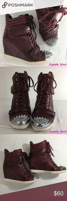 465341735b7 ⬇️REDUCED❗️Boutique 9 Nevan High-Top Wedge Sneaker Red colored  similar to