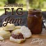Sweet and flavorful ~ This bourbon fig jam can be used in so many dishes. Yum!