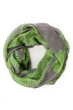 green + gray faraway scarf.