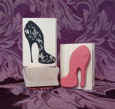 Stiletto+shoe+rubber+stamp+from+oldislandstamps+by+oldislandstamps,+$8.75