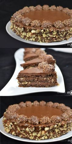 Ferrero Rocher cake recipe The fan favorite cake. This cake is always a hit. Torta Ferrero Rocher, Rocher Torte, Ferro Rocher Cake, Ferrero Rocher Cheesecake, Baking Recipes, Cake Recipes, Dessert Recipes, Chocolate Desserts, Chocolate Hazelnut