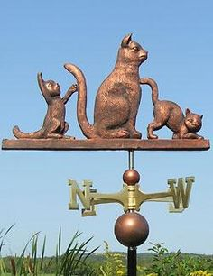 Pet Weathervanes. 1016_threecats.jpg. Weathervanes, also known as wind vanes ...  supercoolpets.com