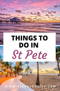 Plan your next vacation to St Pete Florida with ease! Everything you should do in St Pete is just here! You will also find food recommendations! Perfect to organise your trip to St Petersburg, Florida. Cool Places To Visit, Places To Travel, Travel Destinations, Places To Go, Usa Travel Guide, Travel Usa, Travel Guides, Travel Tips, Florida Travel